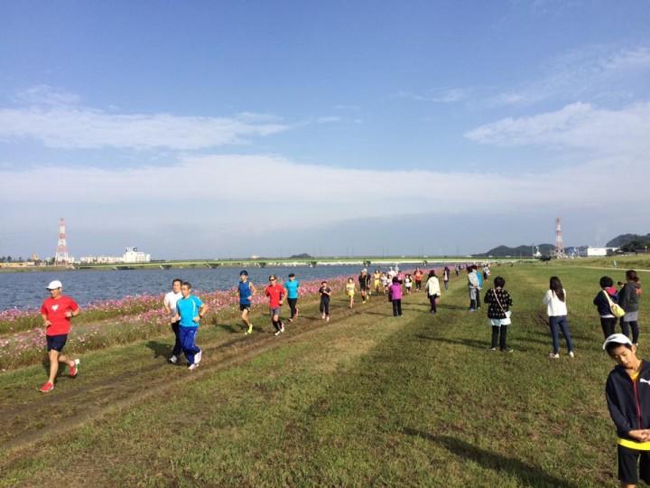 昨年10月の遠賀川さわやかマラソン(オクトーバーラン公認イベント)
